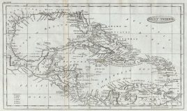 1795 map of the West Indies