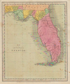 "David H. Burr. ""Map of the Territory of Florida."""
