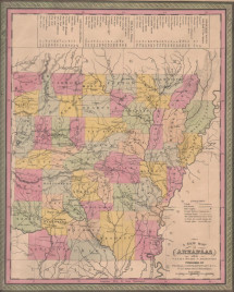 """Cowperthwait """"A New Map of Arkansas with its Canals, Roads & Distances."""""""