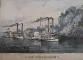 Currier & Ives Race on the Mississippi