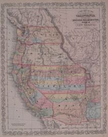 """Desilver """"A New Map of the State of California, The Territories of Oregon, Washington, Utah & New Mexico."""""""