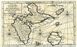 "J. Gibson. ""A New and Accurate Map of the Isles of Guadaloupe, Marie-Galante &c. from the Best Authorities."""