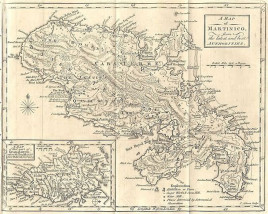 "T. Kitchin, Sr. ""An Accurate Map of the Island of Martinico."""