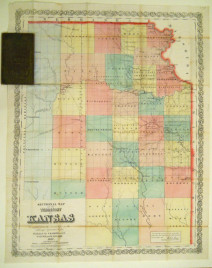 "John Halsall. ""Sectional Map of the Territory of Kansas. Compiled from the Field Notes in the Surveyor General's Office."""