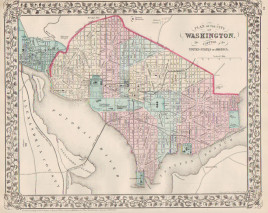 """W.H. Gamble. """"Plan of City of Washington. The Capitol of the United States of America."""""""