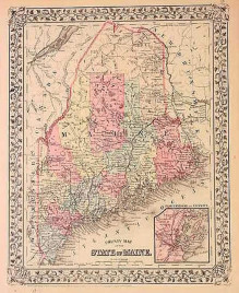 """Mitchell """"County Map of the State of Maine."""""""