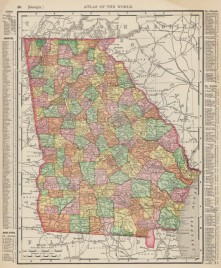 Rand McNally Georgia 1895