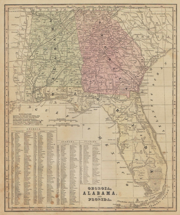 Smith's 1860 South Eastern US