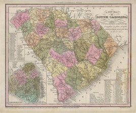 """Henry S. Tanner. """"A New Map of South Carolina with its Roads & Distances."""""""