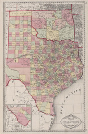1883 Tunison's Texas and Indian Territory