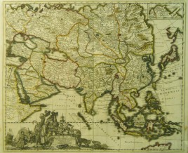 Witsen 1695 map of Asia