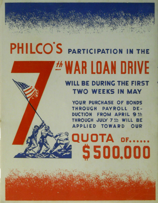 Philco's participation in War Load drive.